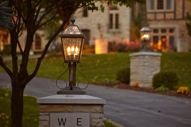 Outside Driveway Wall Lights : Elegant Driveway Lighting - Traditional - Outdoor Lighting - milwaukee - by Brass Light Gallery