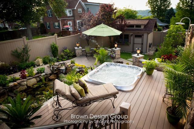 Garden Design Group : Elegant tiered garden traditional landscape other