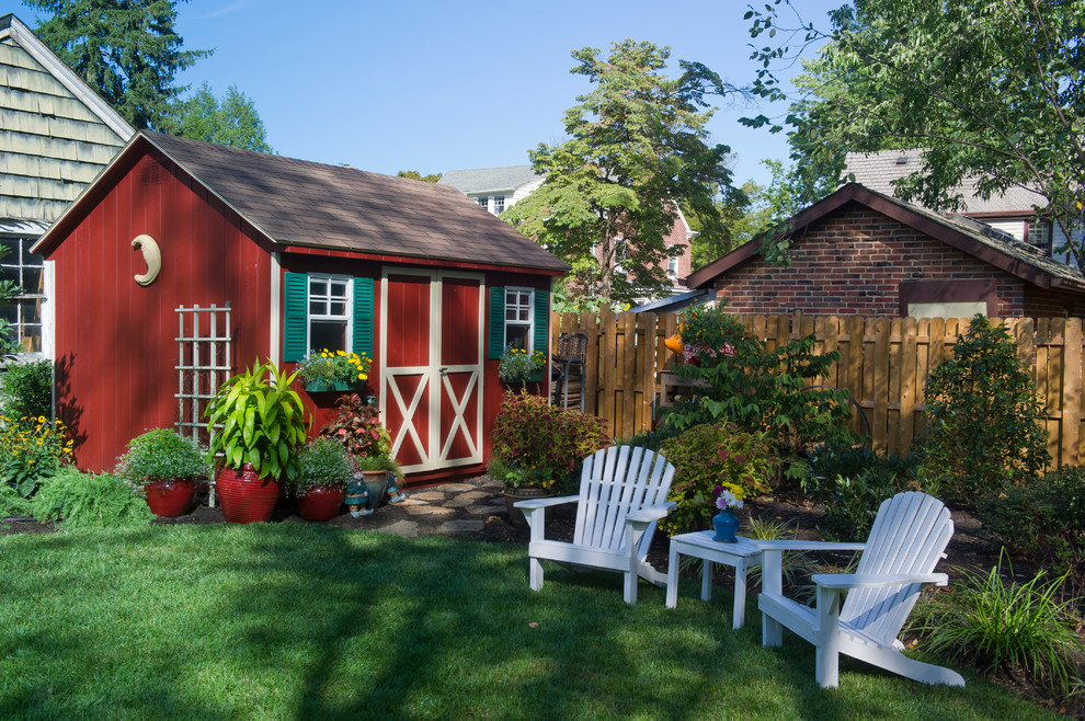 This is an example of a traditional backyard landscaping in Other.