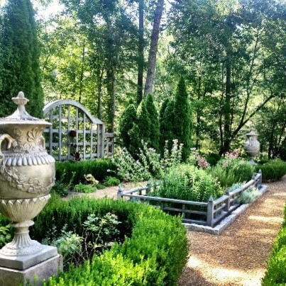 Enchanting Herb And Rose Garden Traditional Landscape