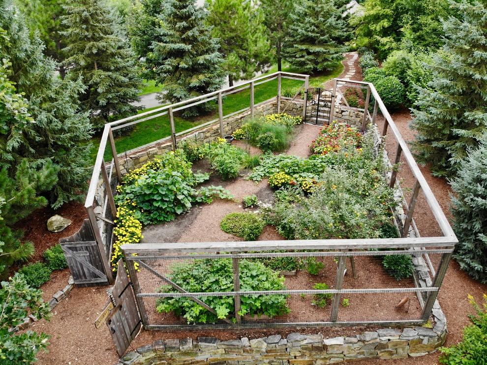 Enclosed vegetable garden - Rustic - Landscape - Minneapolis - by Landsburg Landscape Nursery | Houzz