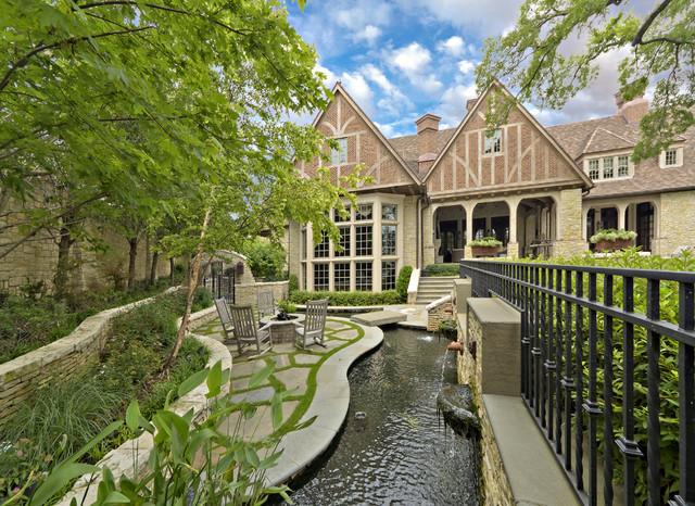 English Tudor Estate & Garden traditional-landscape