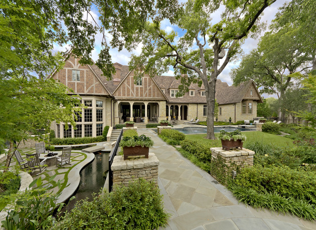 English Tudor Estate & Garden - Traditional - Landscape - dallas - by ...
