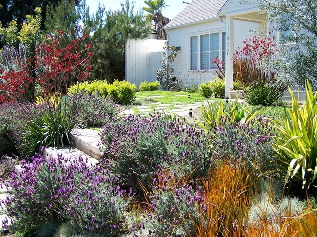Sloped Front Yard Ideas Part - 16: Design Ideas For A Mid-sized Traditional Full Sun Front Yard Concrete Paver  Landscaping In