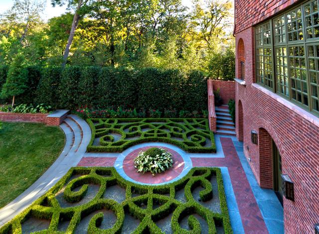 Private Residence - English Tudor Estate Garden traditional-landscape