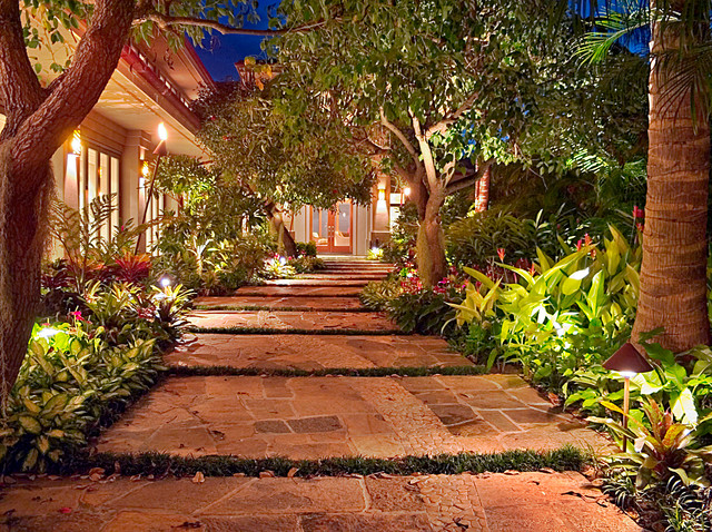 Entry Courtyard Tropical Landscape Hawaii By