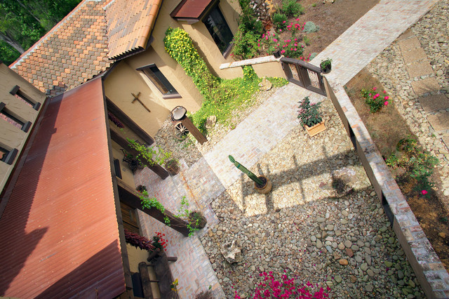 Entry Courtyard from Above southwestern-landscape