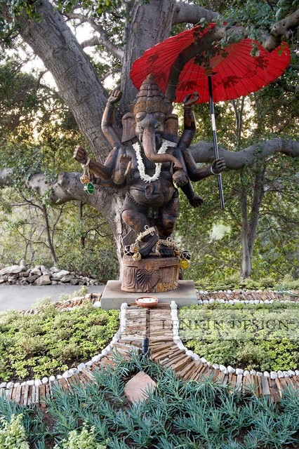 Attractive Entry Ganesha Statue Contemporary Landscape