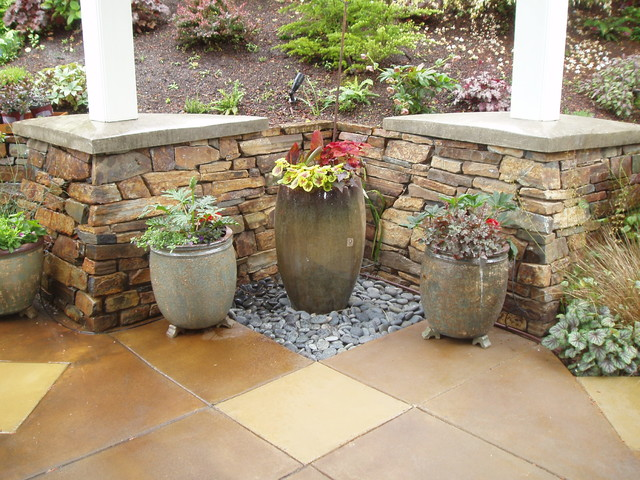Entry Garden - Contemporary - Landscape - other metro - by Bear Creek Landscaping , LLC