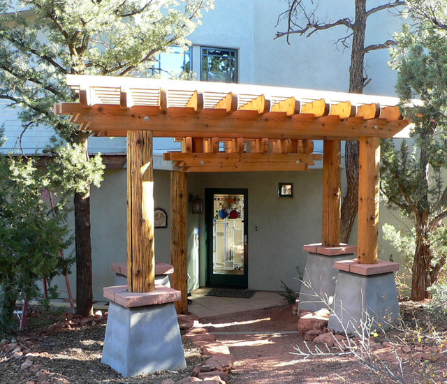 Entry pergola southwestern landscape phoenix by for Southwest pergola