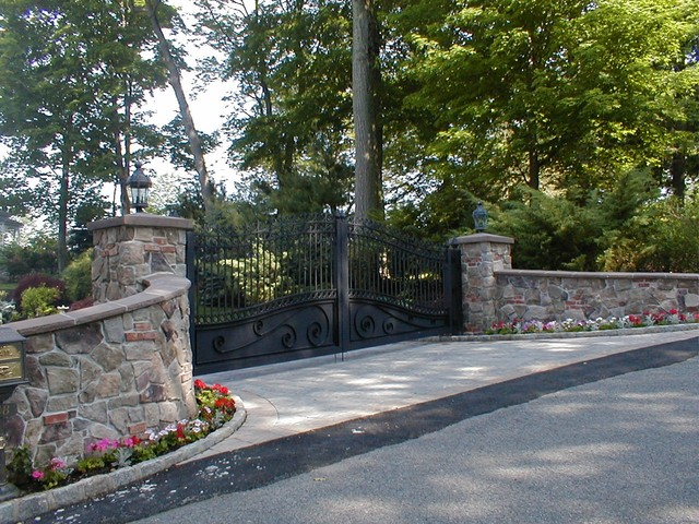 Estate Driveway Gate At Lakefront Lake Hopatcong