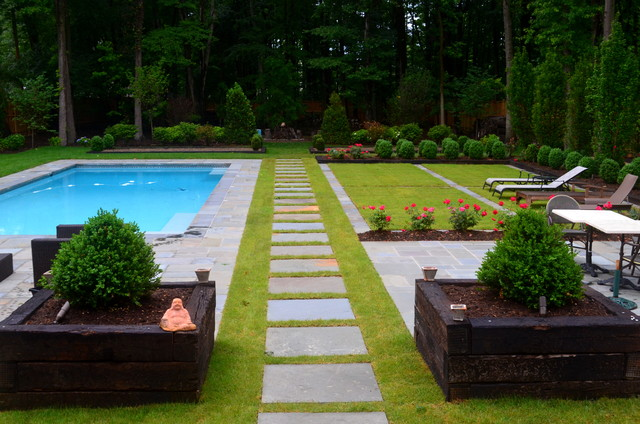 European inspired design modern landscape dc metro for Modern backyard landscaping