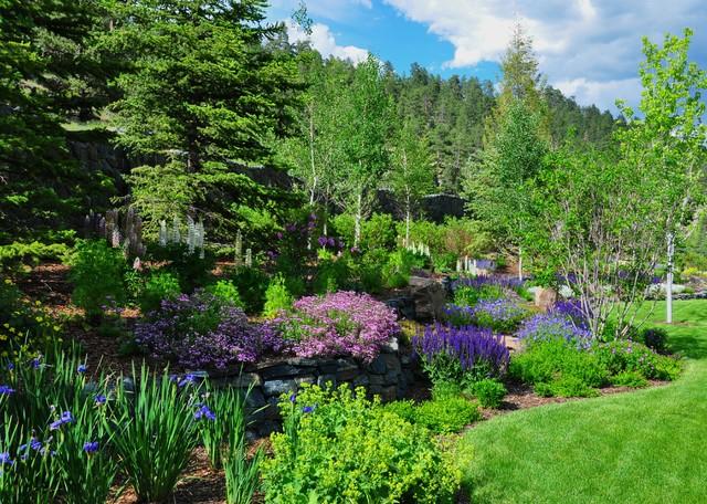 Evergreen mountain retreat traditional landscape other metro by designscapes colorado inc - Mountain garden landscaping ideas ...