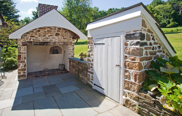 Exterior walk in fireplace root cellar enterence for Walk in fireplace designs