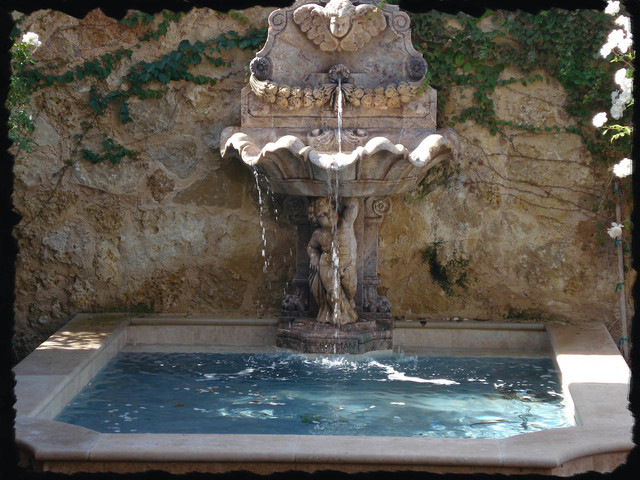 Exterior water Fountains for Pools and Walls, Mediterranean Style mediterranean-landscape
