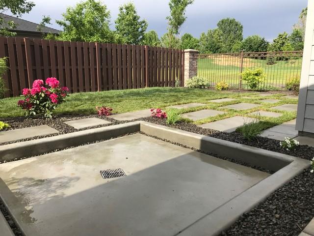 Extra Large Concrete Paver Steps Contemporary