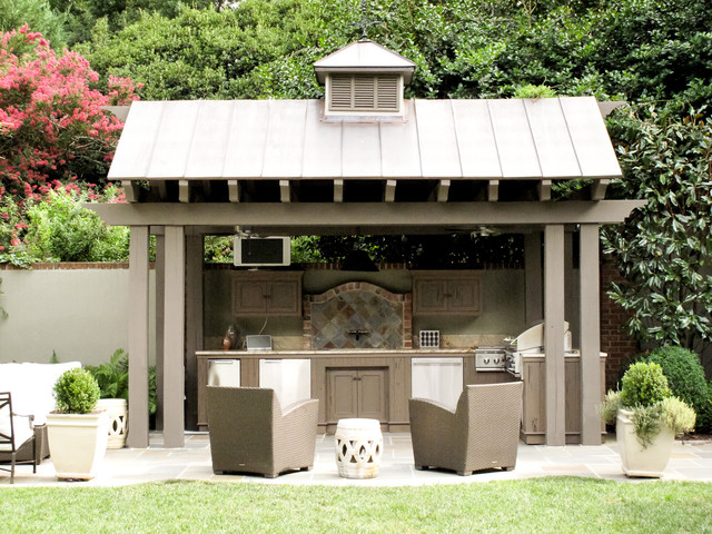 Fairview rd residence traditional landscape other for Traditional outdoor kitchen designs
