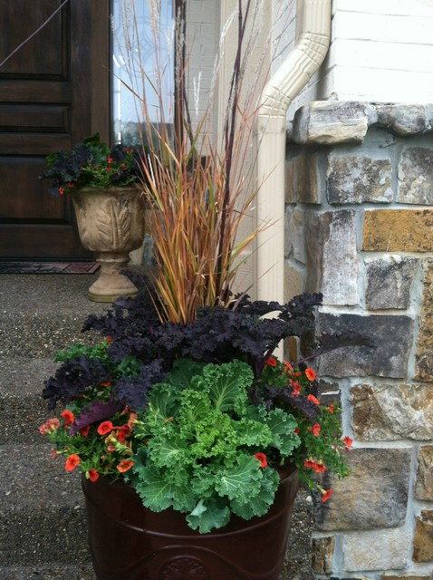 Fall Container Gardens Traditional Landscape other