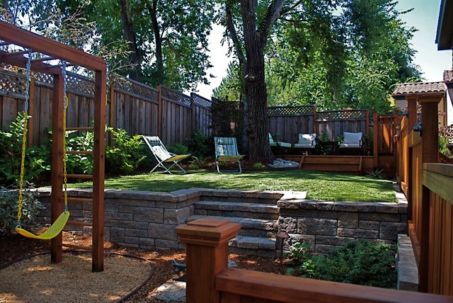 Family fun space transitional landscape san for Garden design by kristen