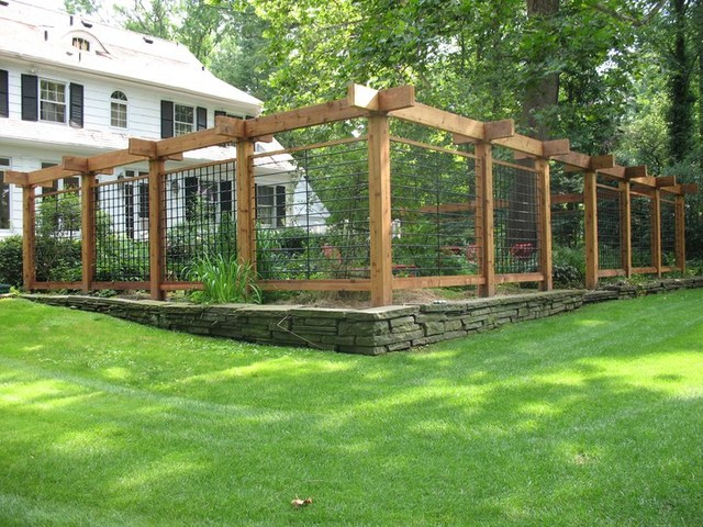 Fencing trellis enclosures traditional landscape