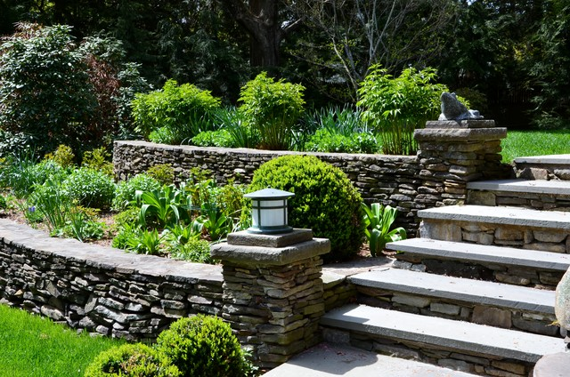 Fieldstone Walls Landscaping : Fieldstone garden walls traditional landscape new