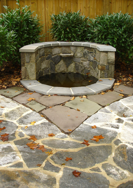 Fieldstone Waterfall And Pond Modern Landscape Other