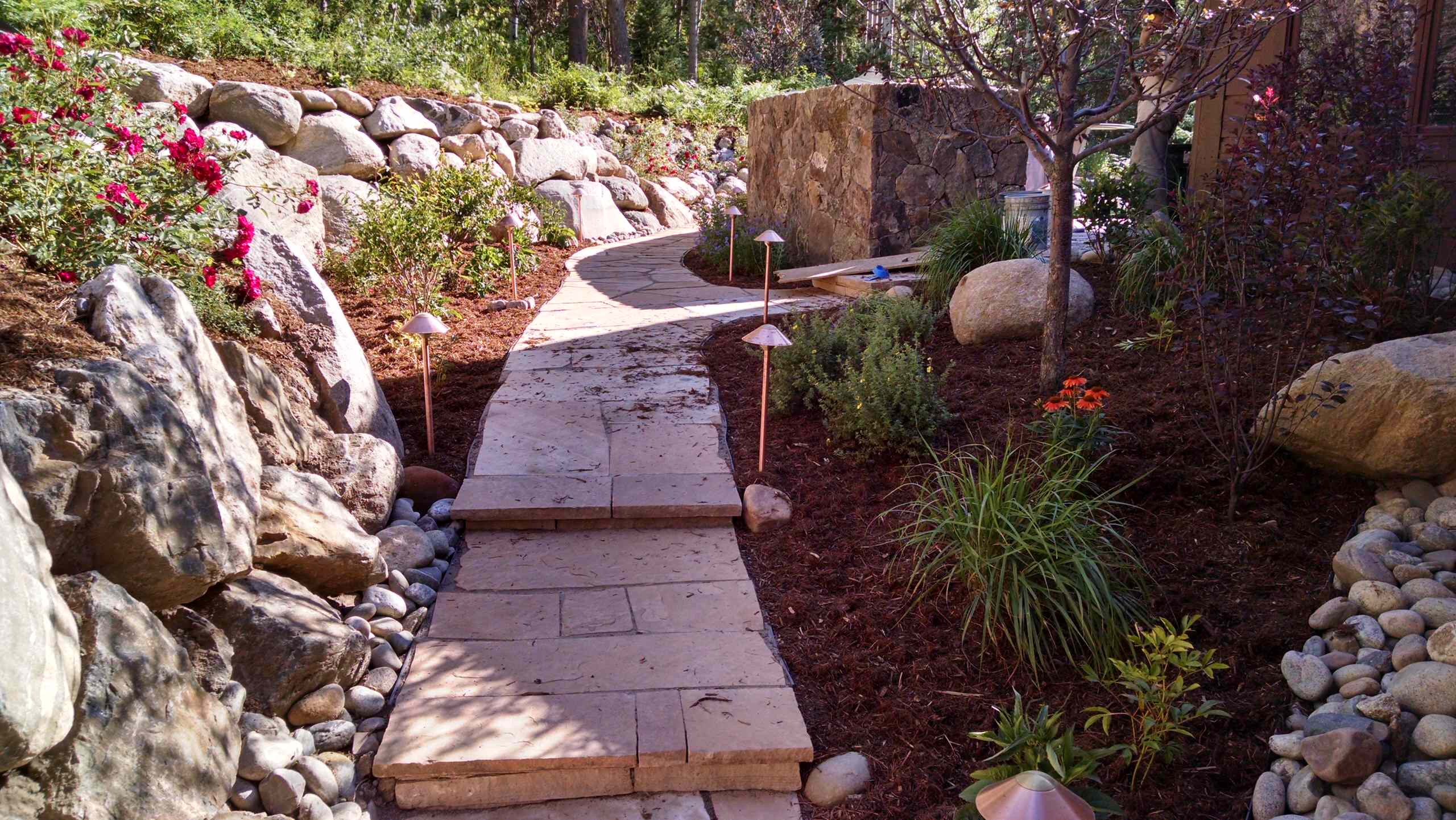 Finished path from back of home