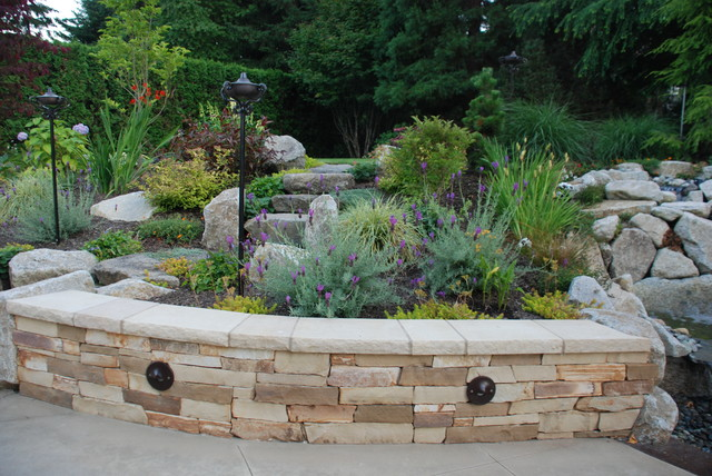 Fire and Water in  Sammamish traditional-landscape