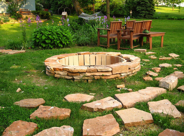 Fire Pit DIY contemporary landscape