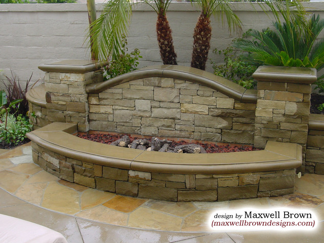 Fire Pit in Huntington Beach eclectic-landscape