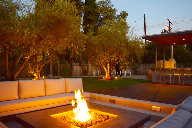 Fire Pit Seating Area Outdoor Kitchen Pizza Oven