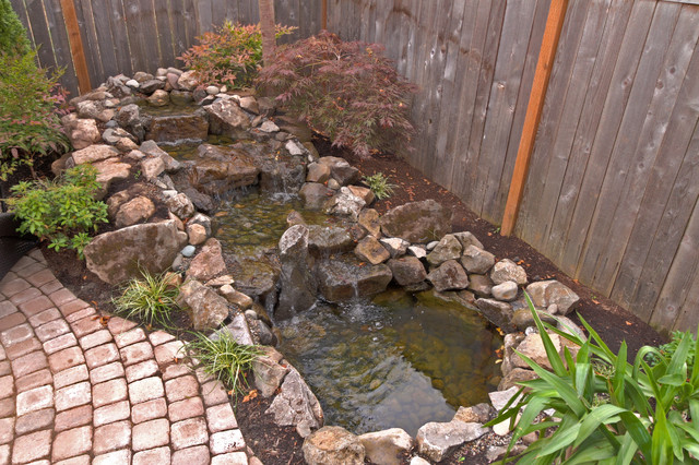 fire pit water feature pergola paver courtyard traditional landscape portland by. Black Bedroom Furniture Sets. Home Design Ideas
