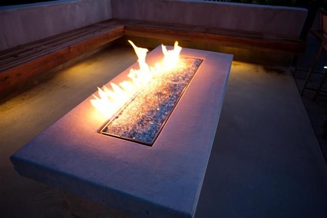 Beautiful Fire Table Modern Landscape