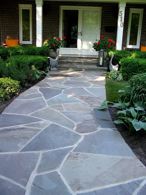 Flagstone Entry Walkway Traditional Landscape