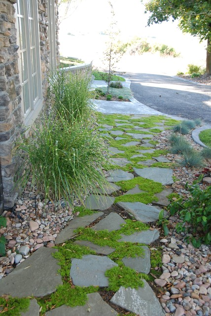 Flagstone Walkway Traditional Landscape Salt Lake