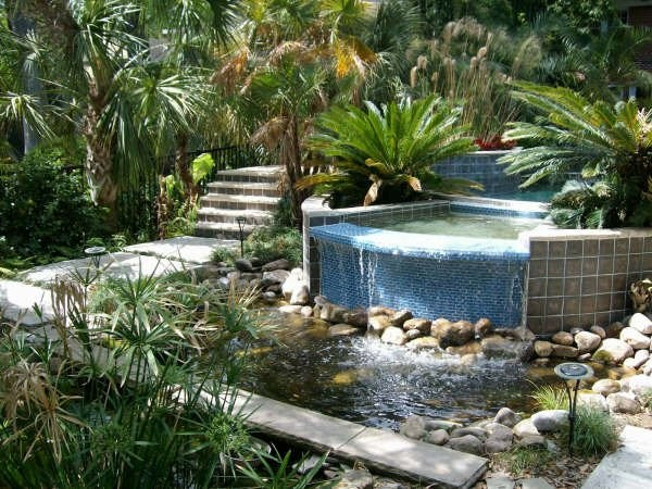 Florida creek garden tropical landscape jacksonville for Garden design jacksonville fl