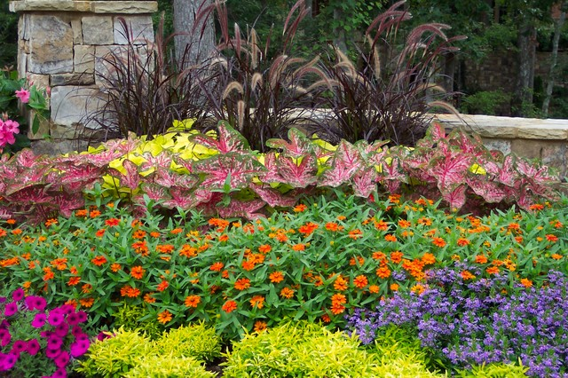 Flower gardens in the south landscape atlanta by for August garden designs