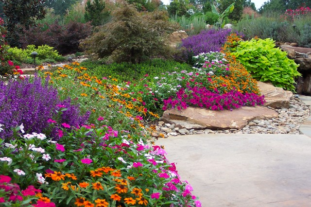 flower gardens in the south  traditional  landscape  atlanta, Natural flower