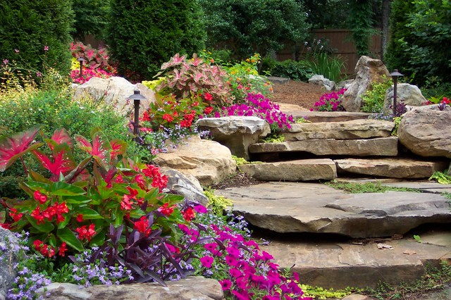 Flower Gardens in the South traditional-landscape