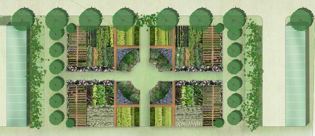 flower gardens landscape
