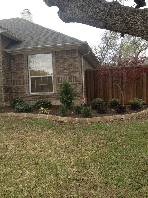 Flower Mound Landscaping and stone work traditional-landscape
