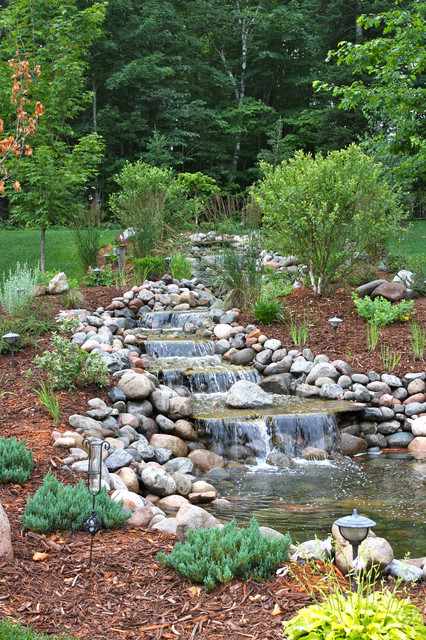 Flowing River at Rural Residential Home