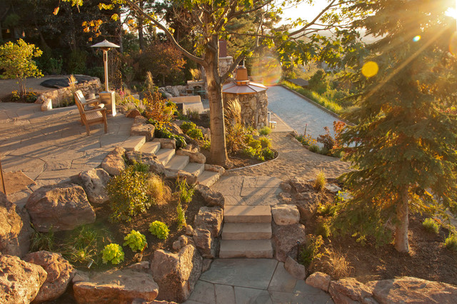 Foothills residence craftsman landscape boise by for Landscape design boise