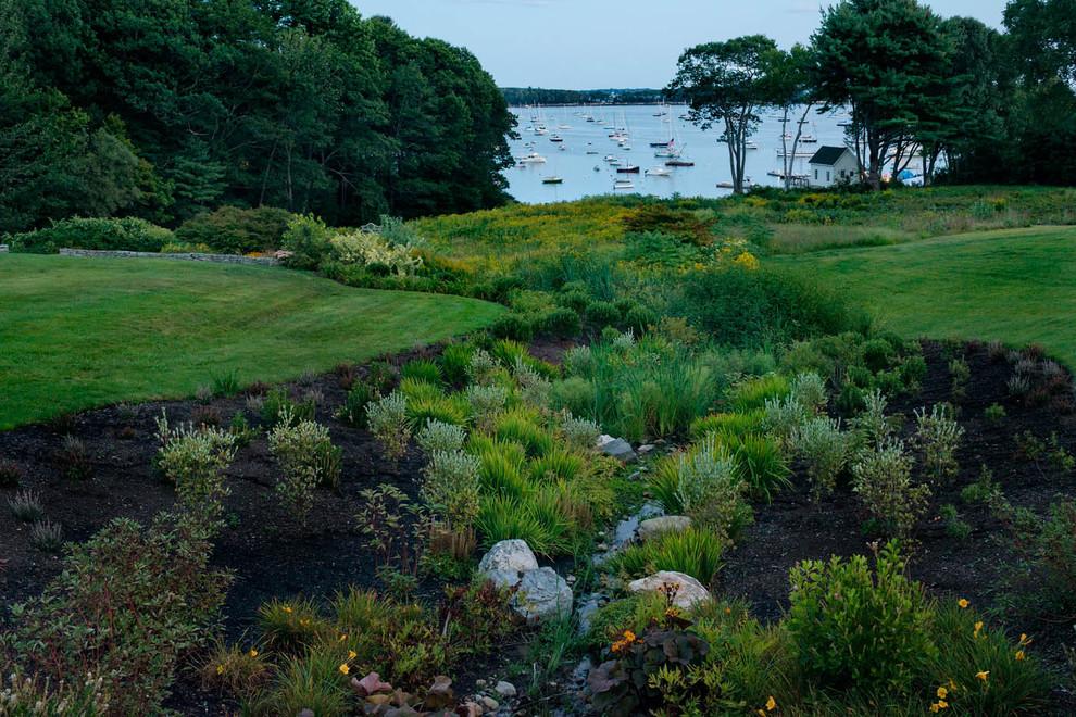 Foreside Cottage - Beach Style - Landscape - Portland ... on Coastal Backyard Ideas id=39295