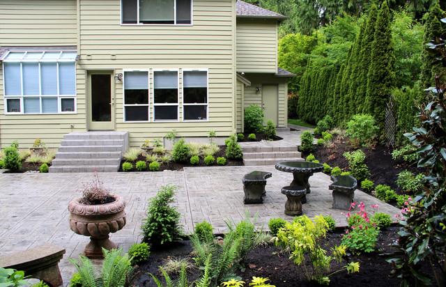 Formal Backyard Garden Traditional Landscape seattle