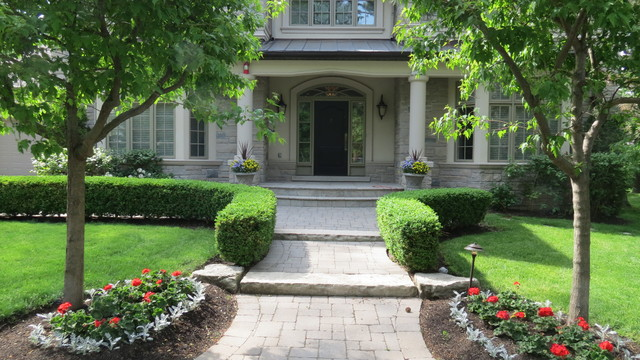 Formal Front Entrance Traditional Landscape Toronto