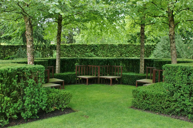 Formal garden design traditional landscape for Formal garden design
