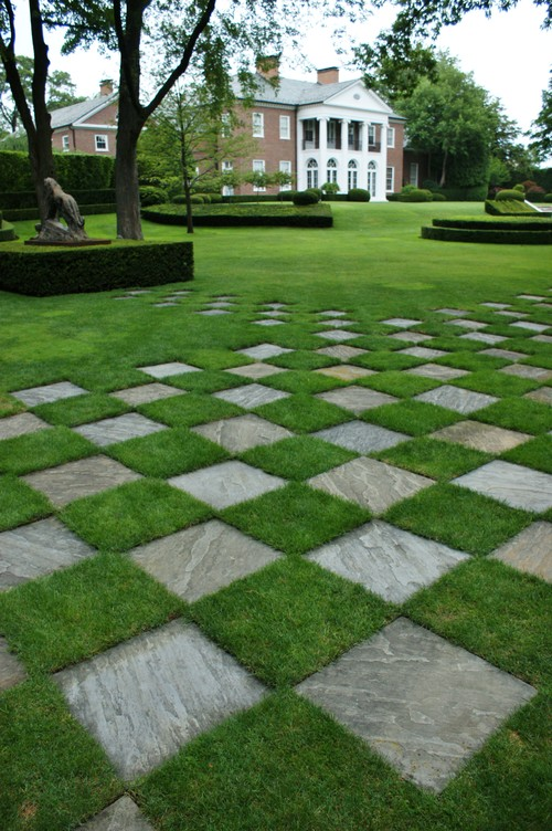 Patio Designs Pavers Grass : How would you cut the grass that is in between pavers