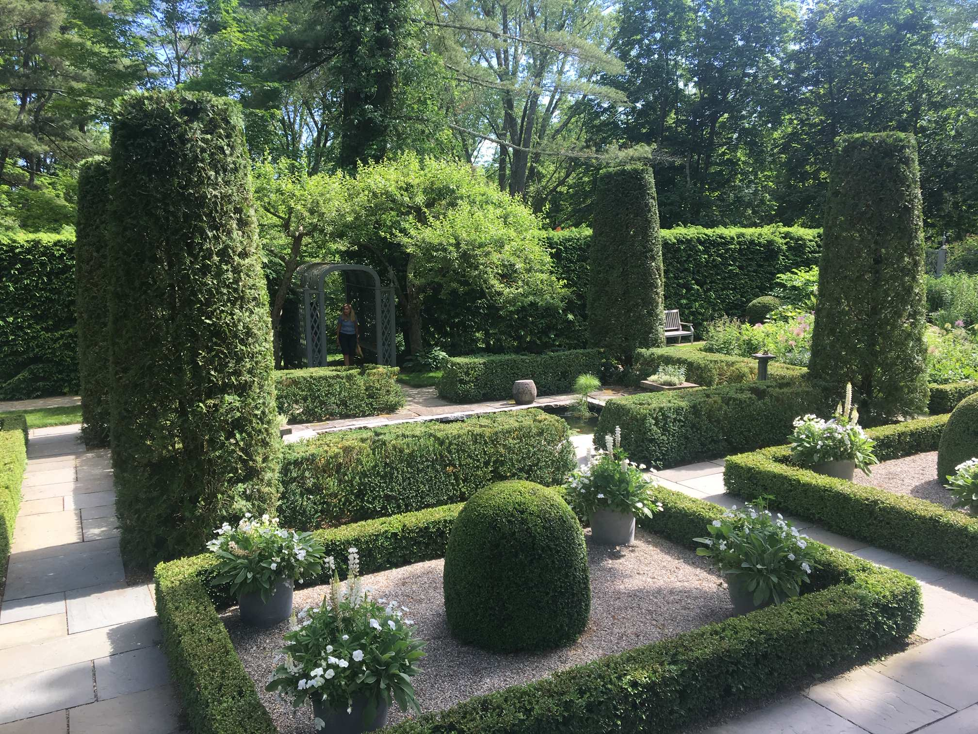 Formal Gardens with Boxwoods, Topiaries and Plants