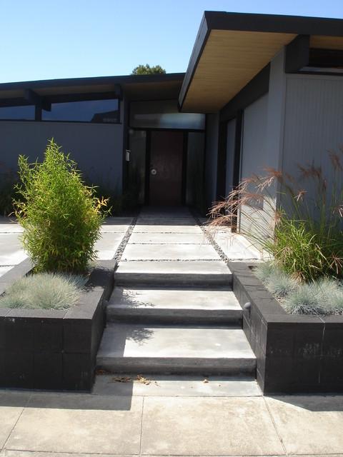 Foster City Eichler modern-landscape